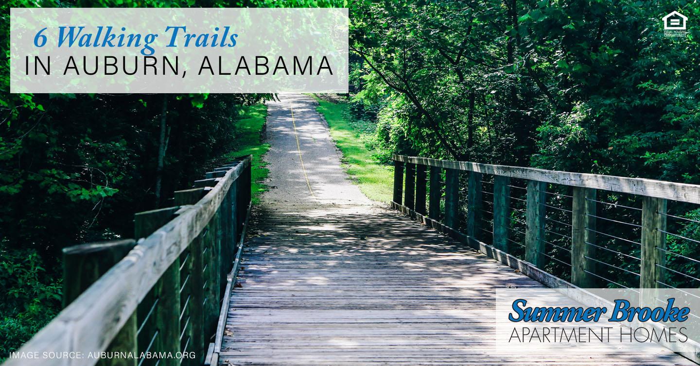 walking trails in Auburn, Alabama